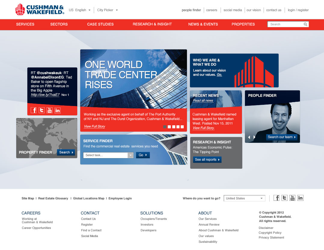 Cushman and Wakefield Home Page