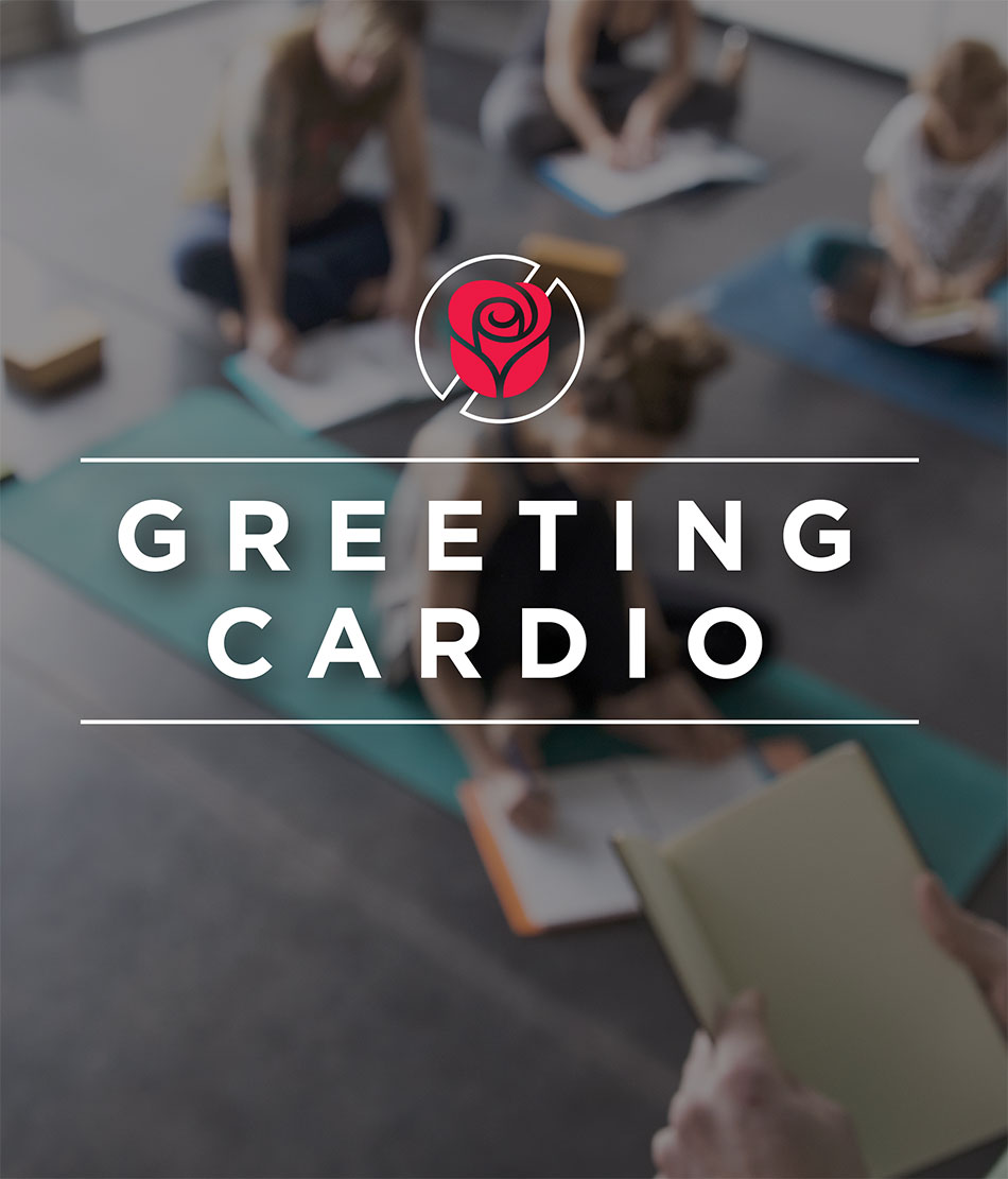Greeting Cardio lockup